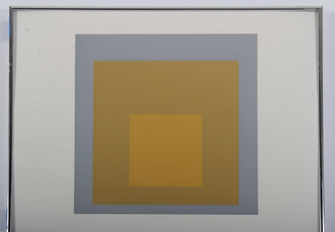 Josef Albers,Ger./Am., Grey/Yellow Squares - 2