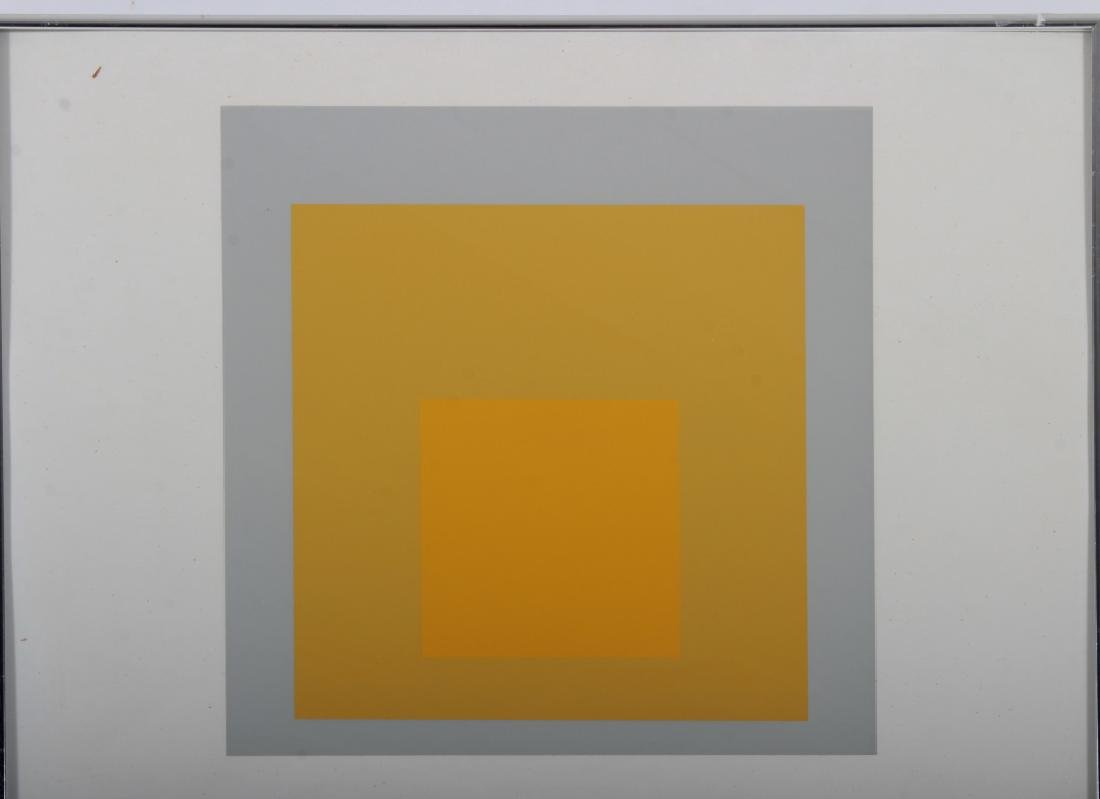 Josef Albers,Ger./Am., Grey/Yellow Squares - 4