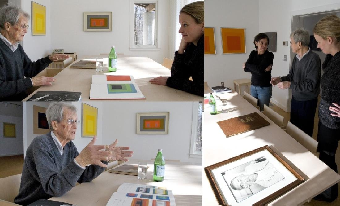 Josef Albers,Ger./Am., Grey/Yellow Squares - 7