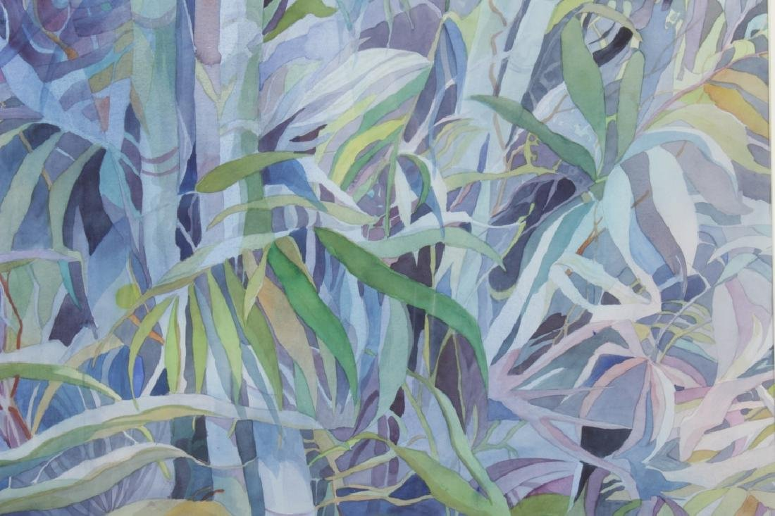 Olive Reich Bamboo Grove Watercolor/ Paper 20th c.