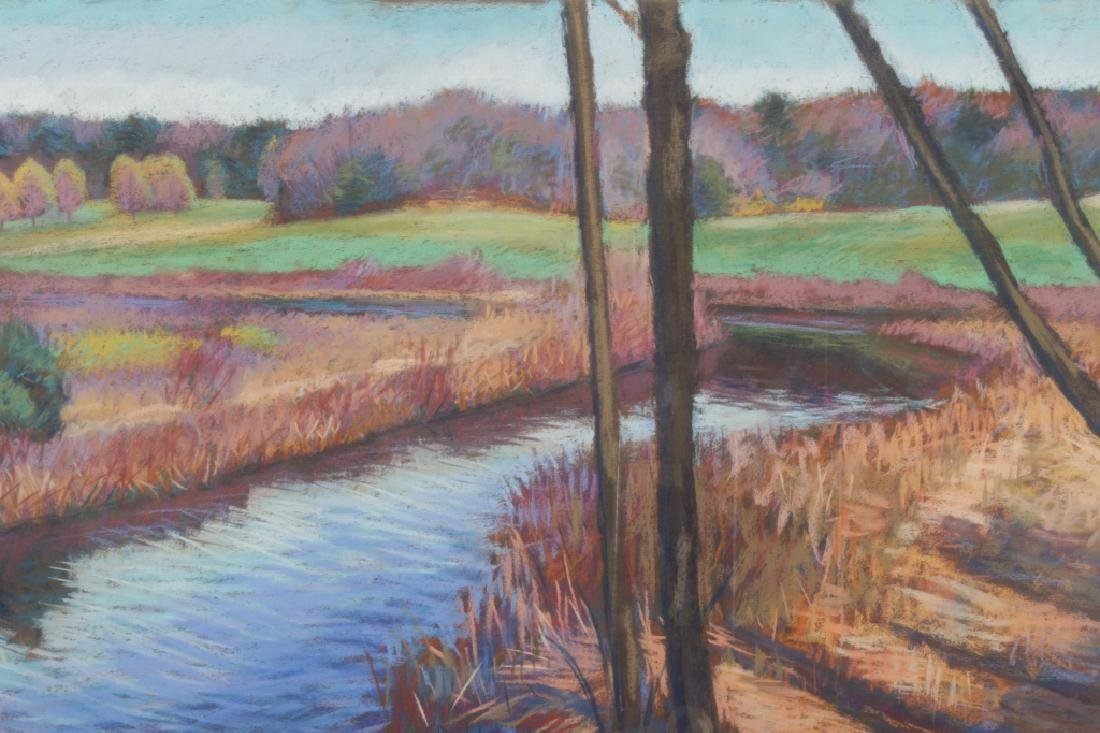 Tom Curry, River Landscape, Pastel/Paper, 20th c.