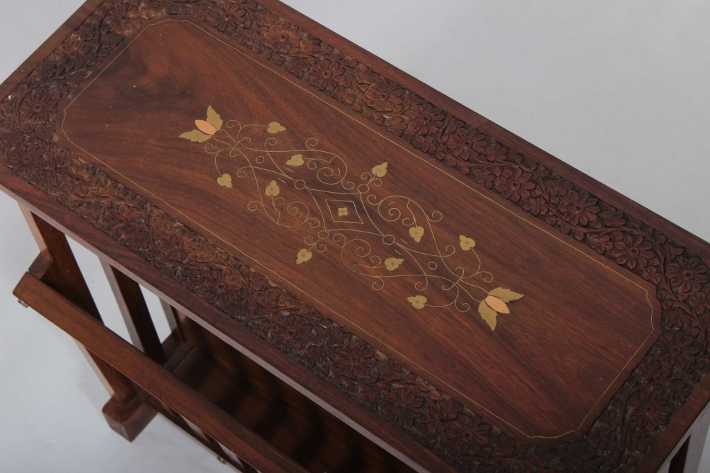 Three 19-20th C. Carved Wooden Occasional Pieces - 5