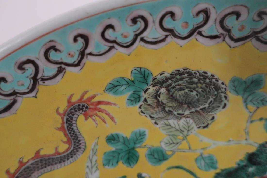 Chinese Porcelain Large Charger, 19th c. - 4
