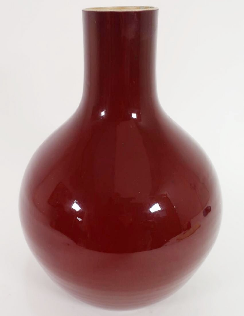 Sang-De Boeuf Chinese Porcelain Vase, c. 1900