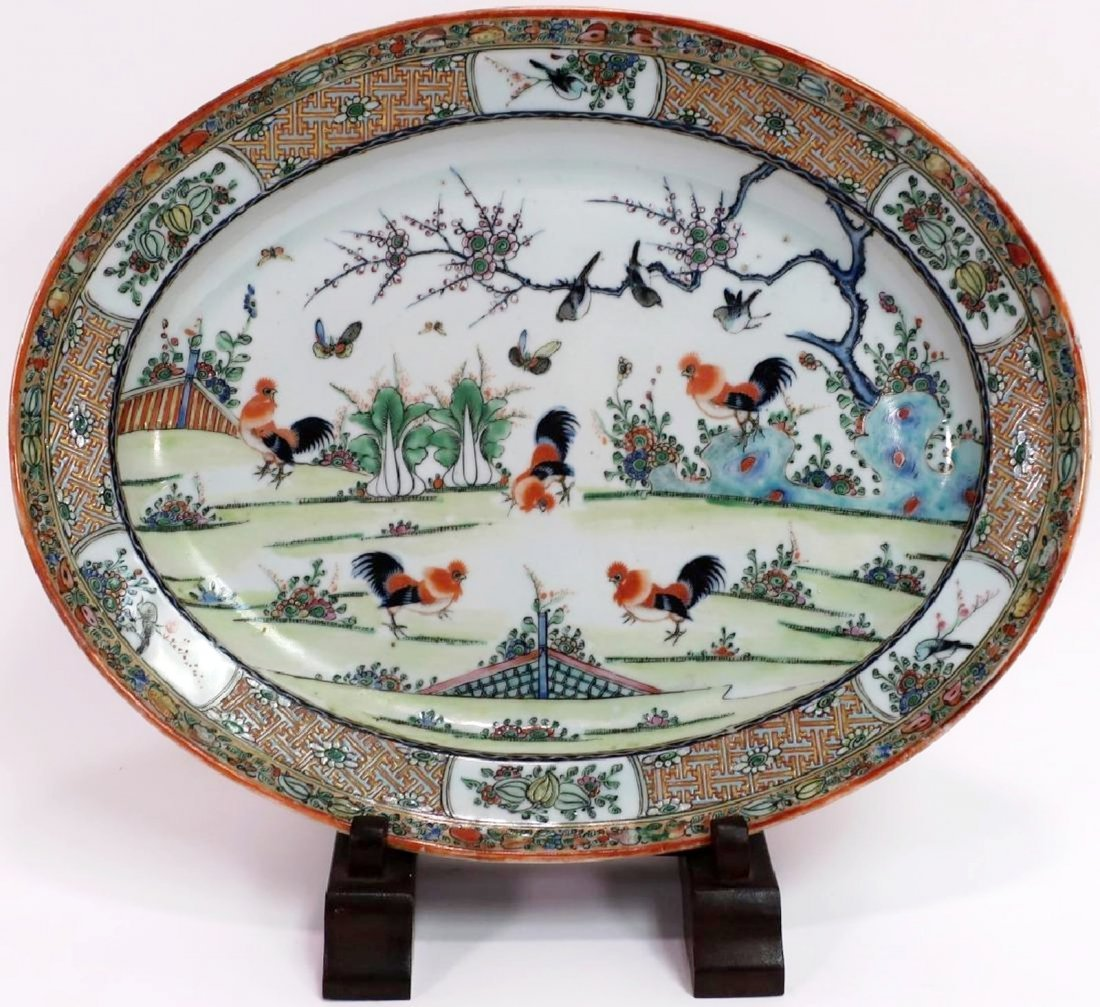 Chinese Porcelain Platter, late 19th/early 20th c.