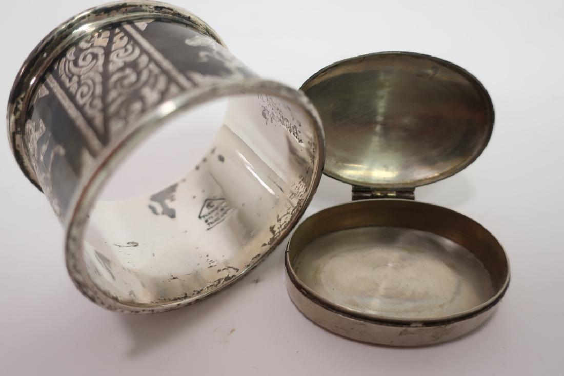 Chinese Jue, Bowl, Goblet & Siamese silver - 4
