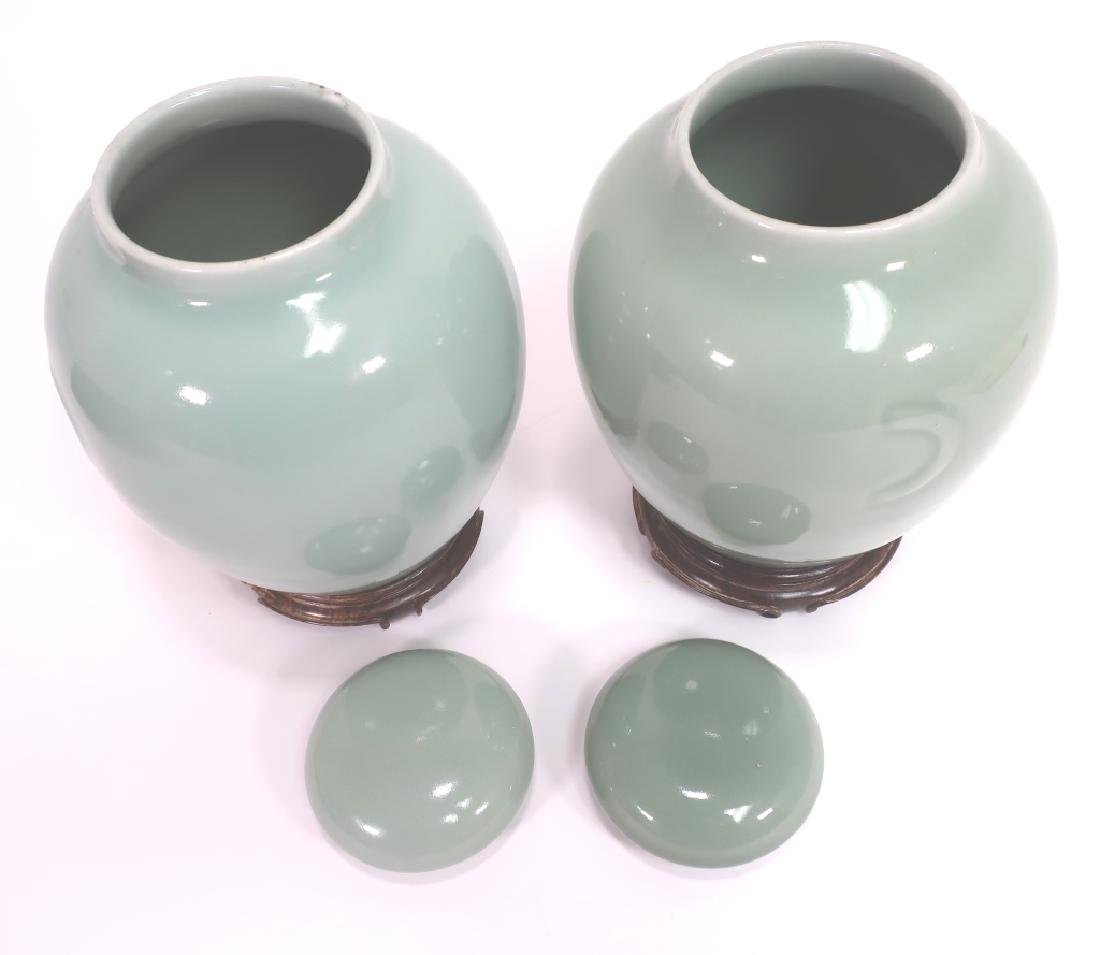 Pr. Chinese Porcelain Covered Jars - 5