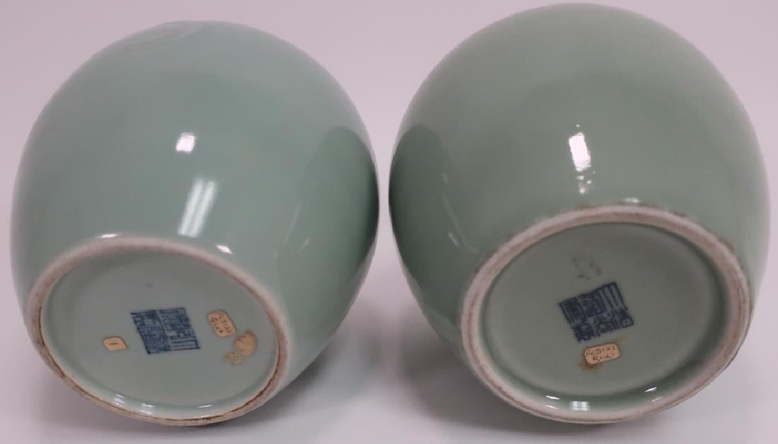 Pr. Chinese Porcelain Covered Jars - 7