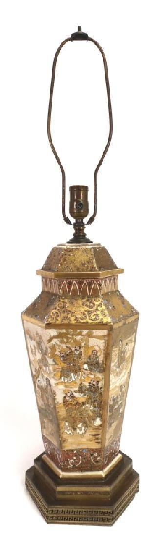 Satsuma Octagonal Covered Urn Converted to Lamp