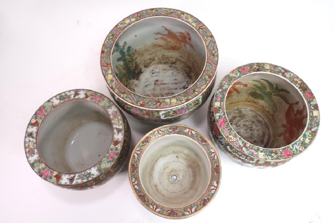 Lot of 4:  Three Fishbowls & One Planter - 3