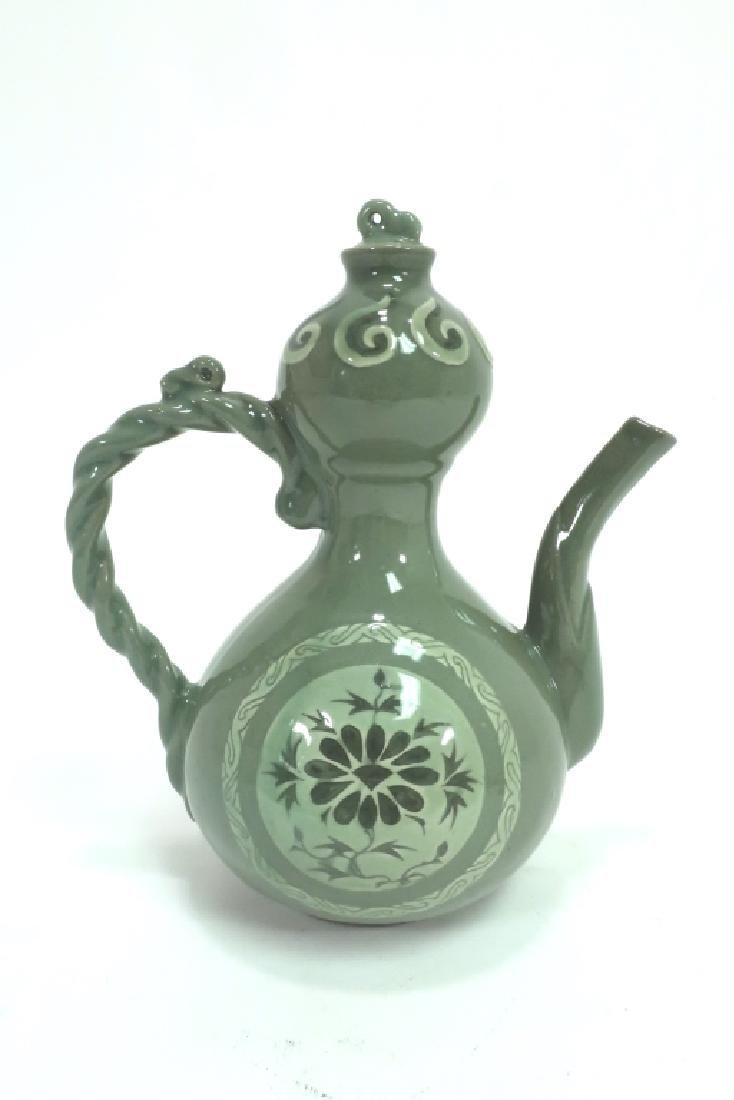 Shin Sang Ho, Kor., 20th C., Ceramic Ewer