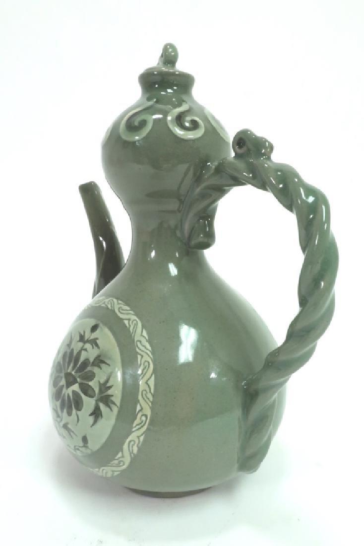 Shin Sang Ho, Kor., 20th C., Ceramic Ewer - 2