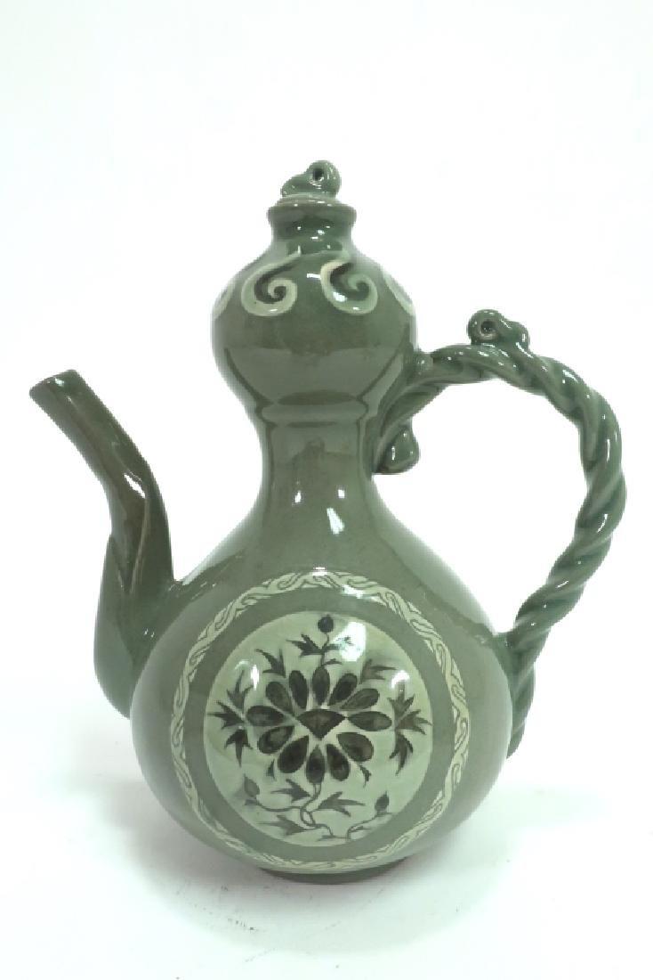 Shin Sang Ho, Kor., 20th C., Ceramic Ewer - 3