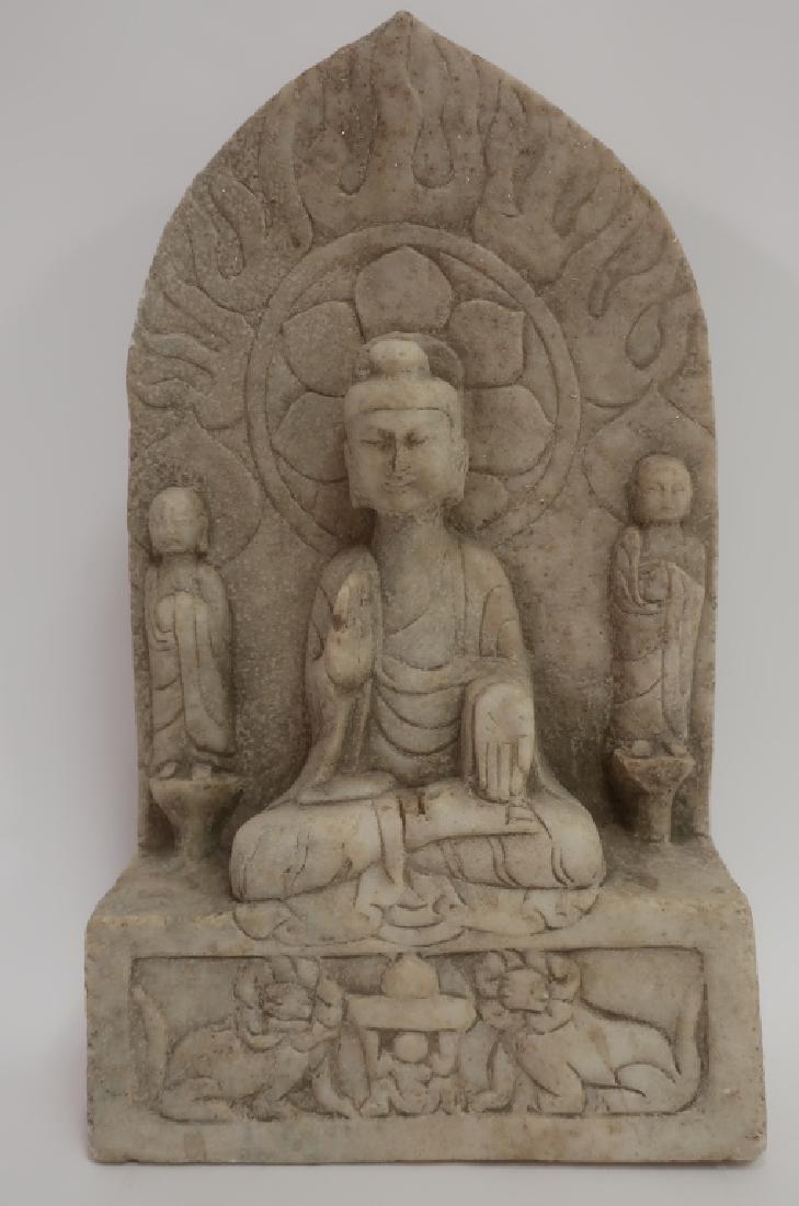 Chinese Northern Wei Style Marble Buddha Stele