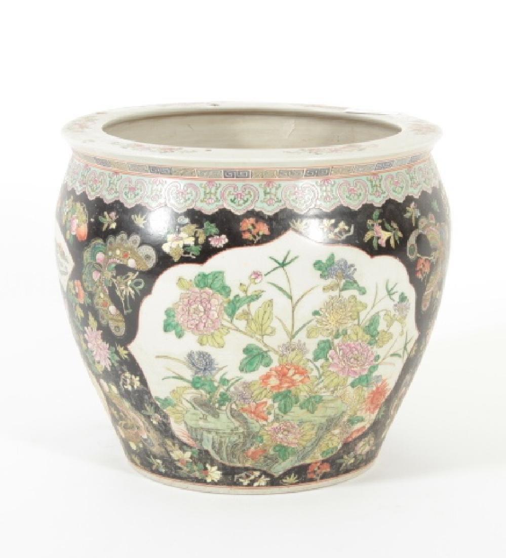 Large Porcelain Asian Fishbowl