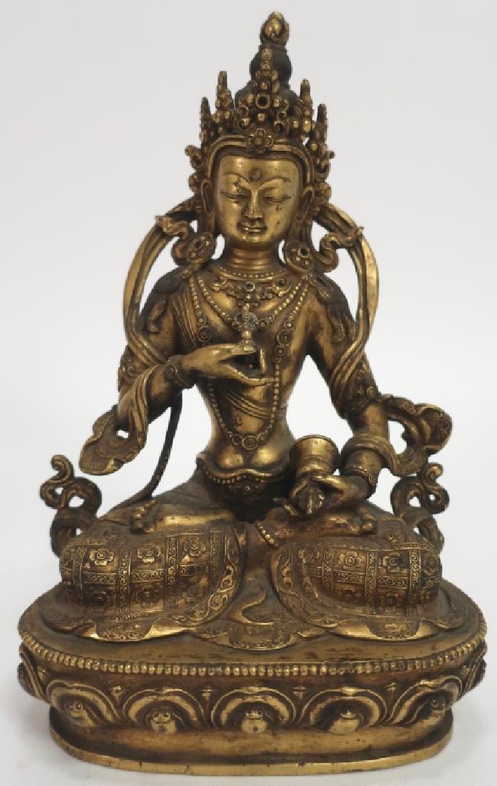 Sino-Tibetan Gilt Bronze Vajrasattava, 18th C.