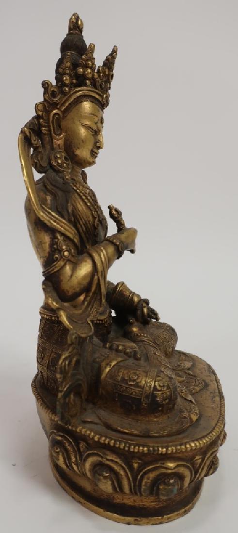 Sino-Tibetan Gilt Bronze Vajrasattava, 18th C. - 2