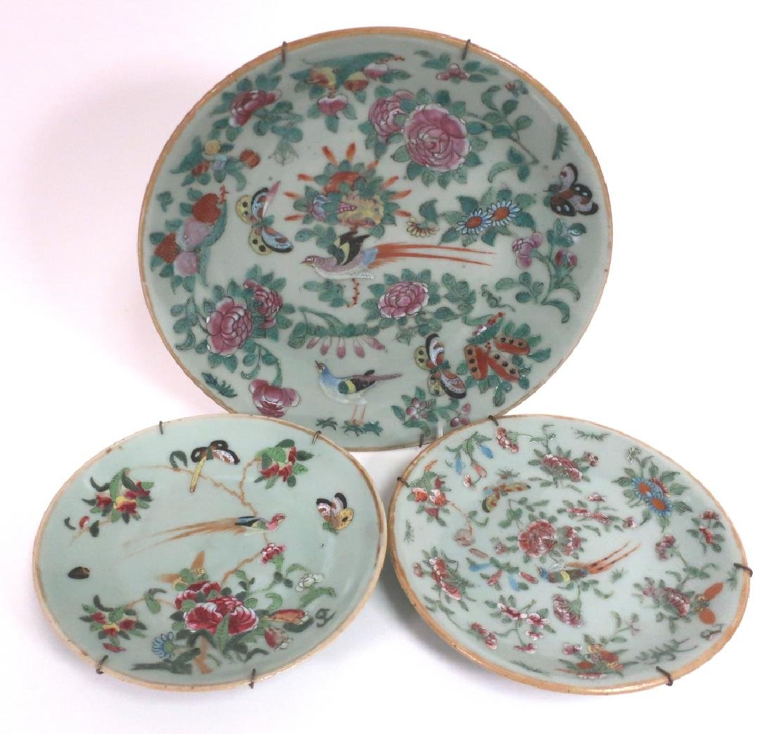8 Chinese Porcelain Dishes, 19th c. - 3