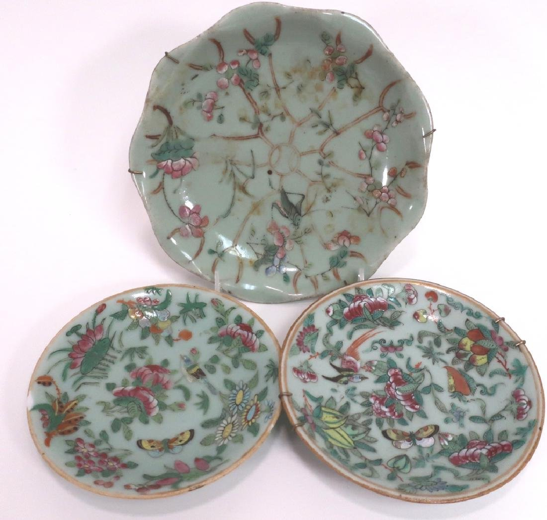 8 Chinese Porcelain Dishes, 19th c. - 4