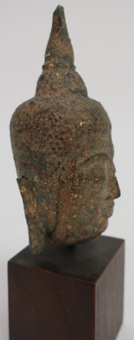 Thai Small Bronze Head, Ayutthaya Prd. 16-18th C. - 2