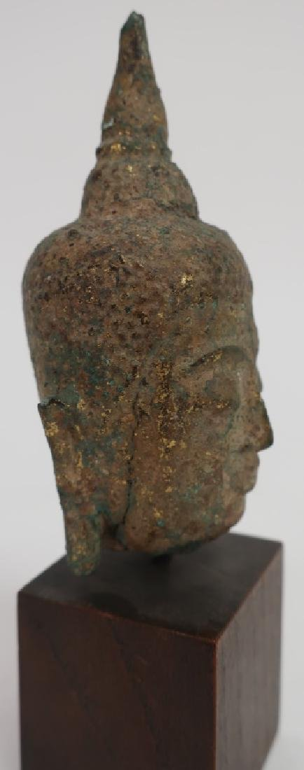 Thai Small Bronze Head, Ayutthaya Prd. 16-18th C. - 2