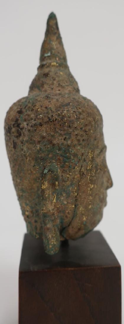 Thai Small Bronze Head, Ayutthaya Prd. 16-18th C. - 3