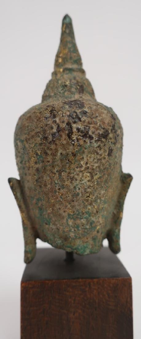 Thai Small Bronze Head, Ayutthaya Prd. 16-18th C. - 4