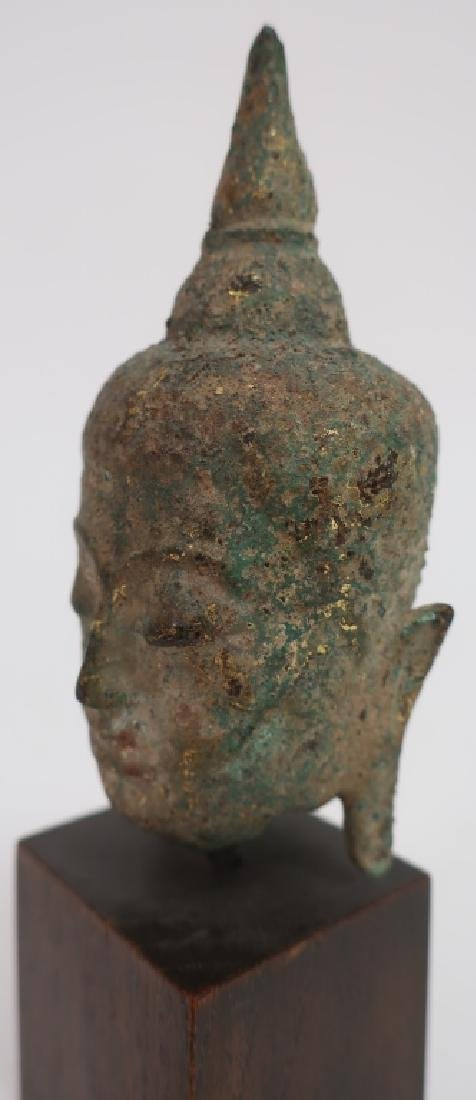 Thai Small Bronze Head, Ayutthaya Prd. 16-18th C. - 5