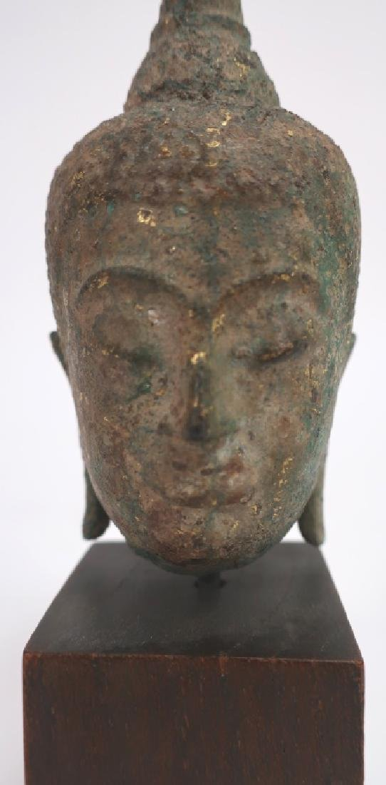 Thai Small Bronze Head, Ayutthaya Prd. 16-18th C. - 6