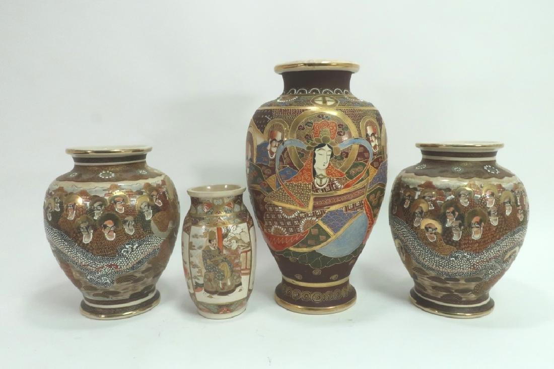 Group of 4: Satsuma Vases - 2