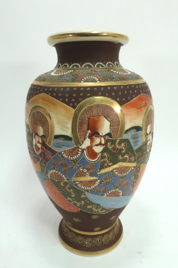 Group of 4: Satsuma Vases - 3