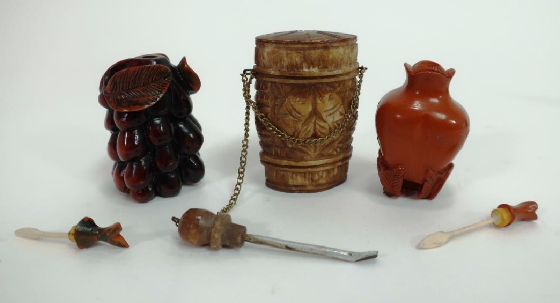Chinese Snuff Bottles, Glass, Porcelain, Cloissone - 3