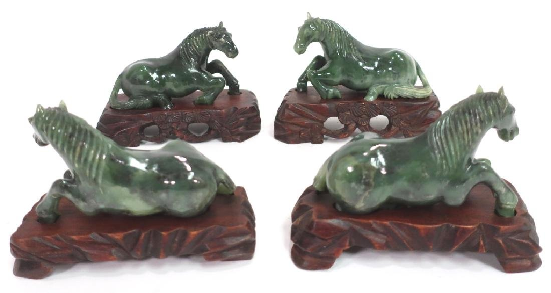 Group of Chinese Jade Carving of Horses, et al. - 4
