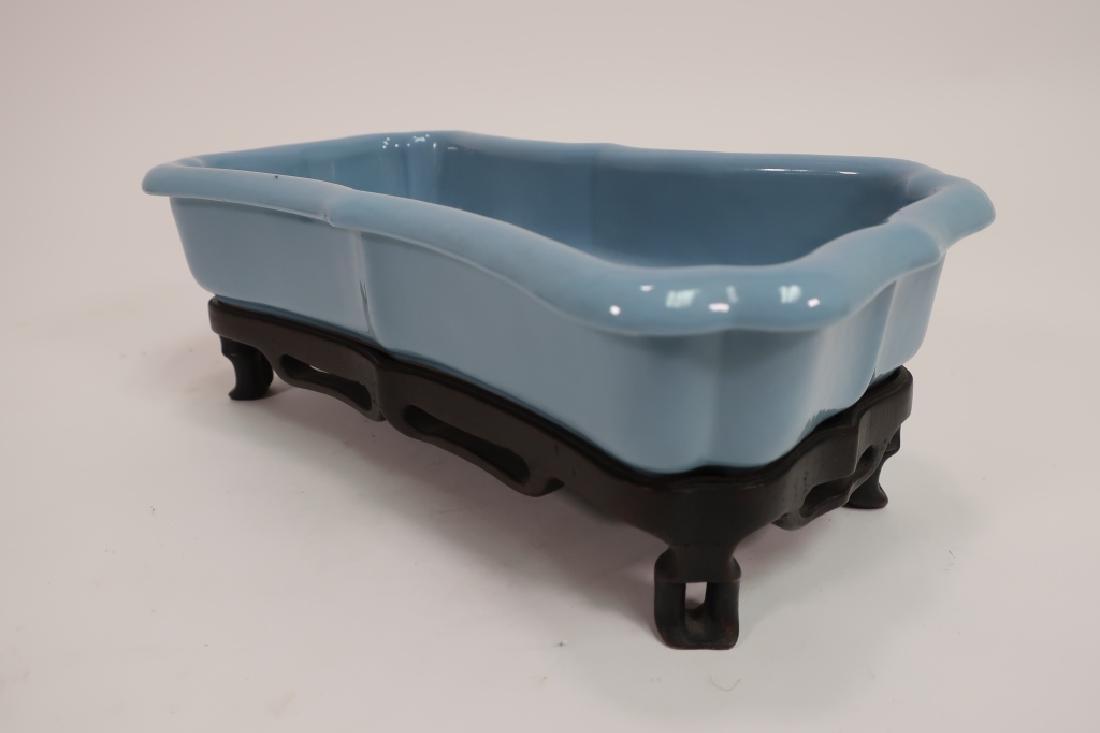 Chinese Jardiniere, Wedding Bowl & Covered Jar - 6