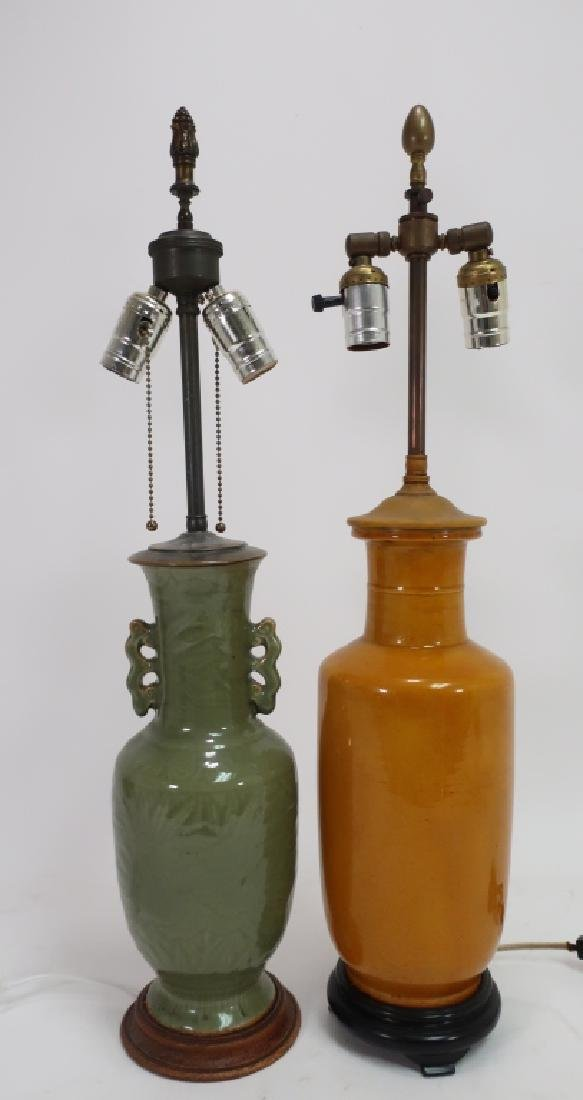 Two Chinese Vases as Lamps