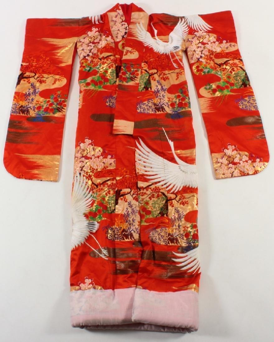 Japanese Embroidered Silk Wedding Kimono