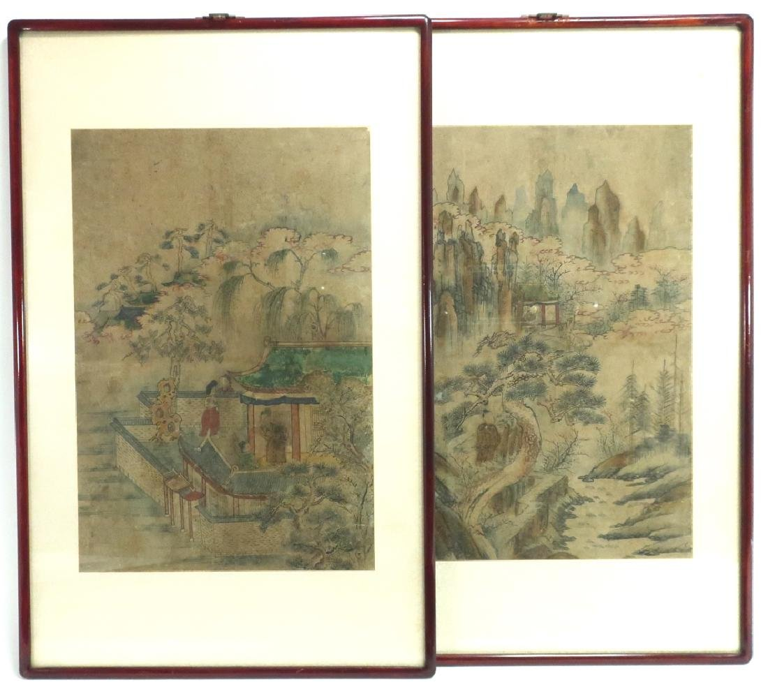 2 Yi Dynasty Folk Paintings,19th C.,ink on paper