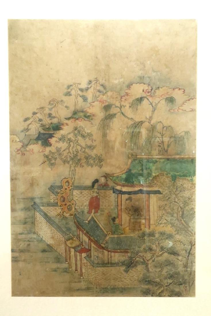 2 Yi Dynasty Folk Paintings,19th C.,ink on paper - 2