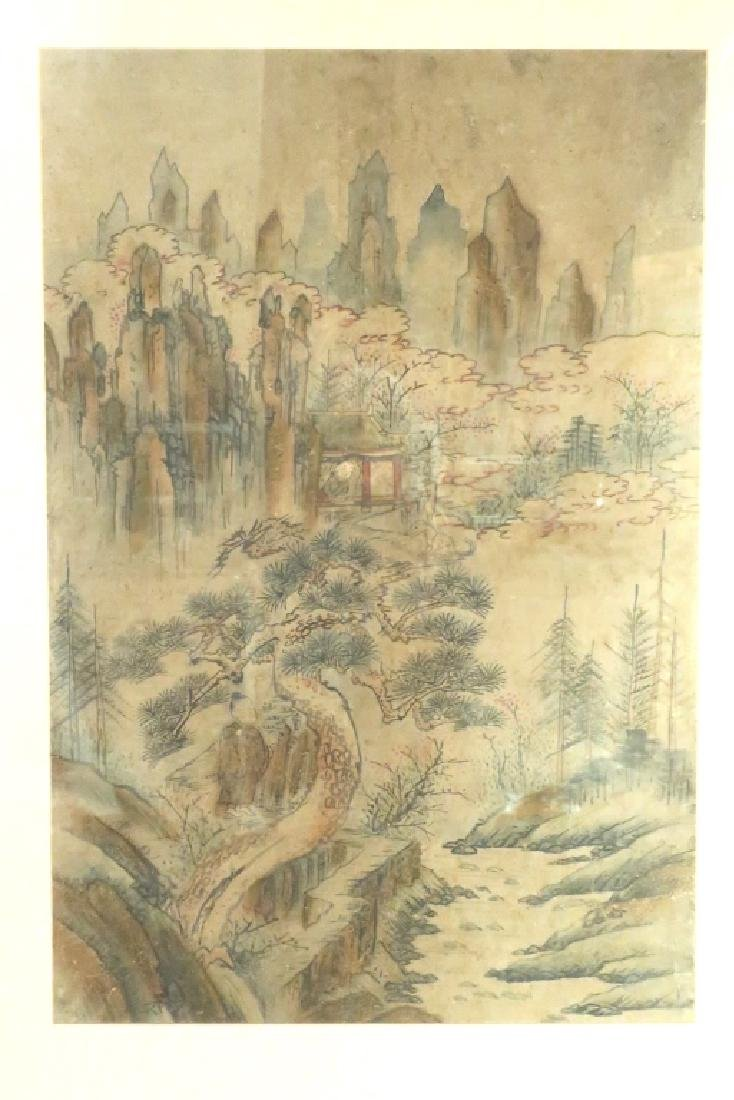 2 Yi Dynasty Folk Paintings,19th C.,ink on paper - 3