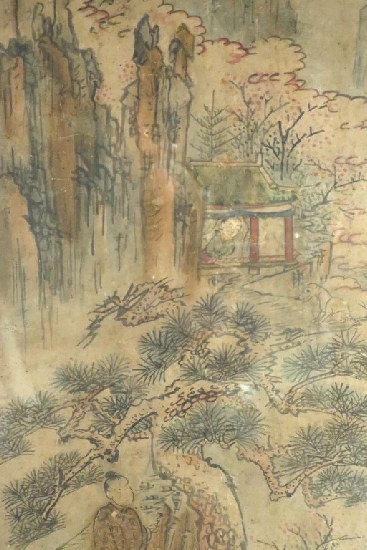 2 Yi Dynasty Folk Paintings,19th C.,ink on paper - 4
