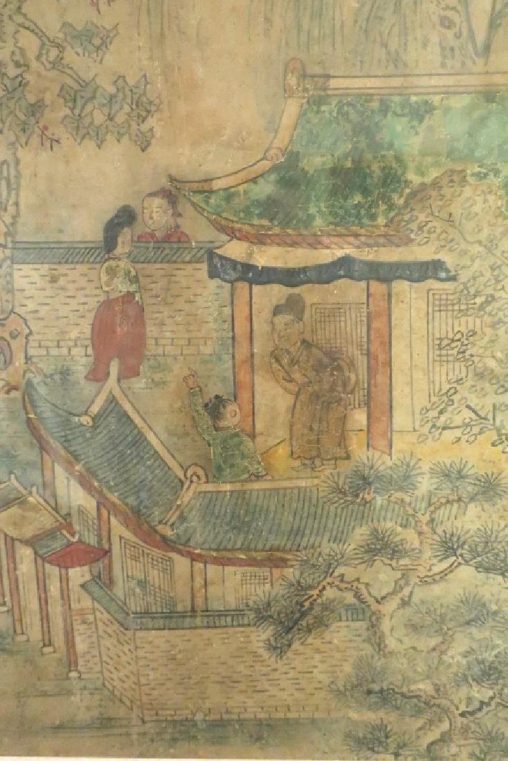 2 Yi Dynasty Folk Paintings,19th C.,ink on paper - 5