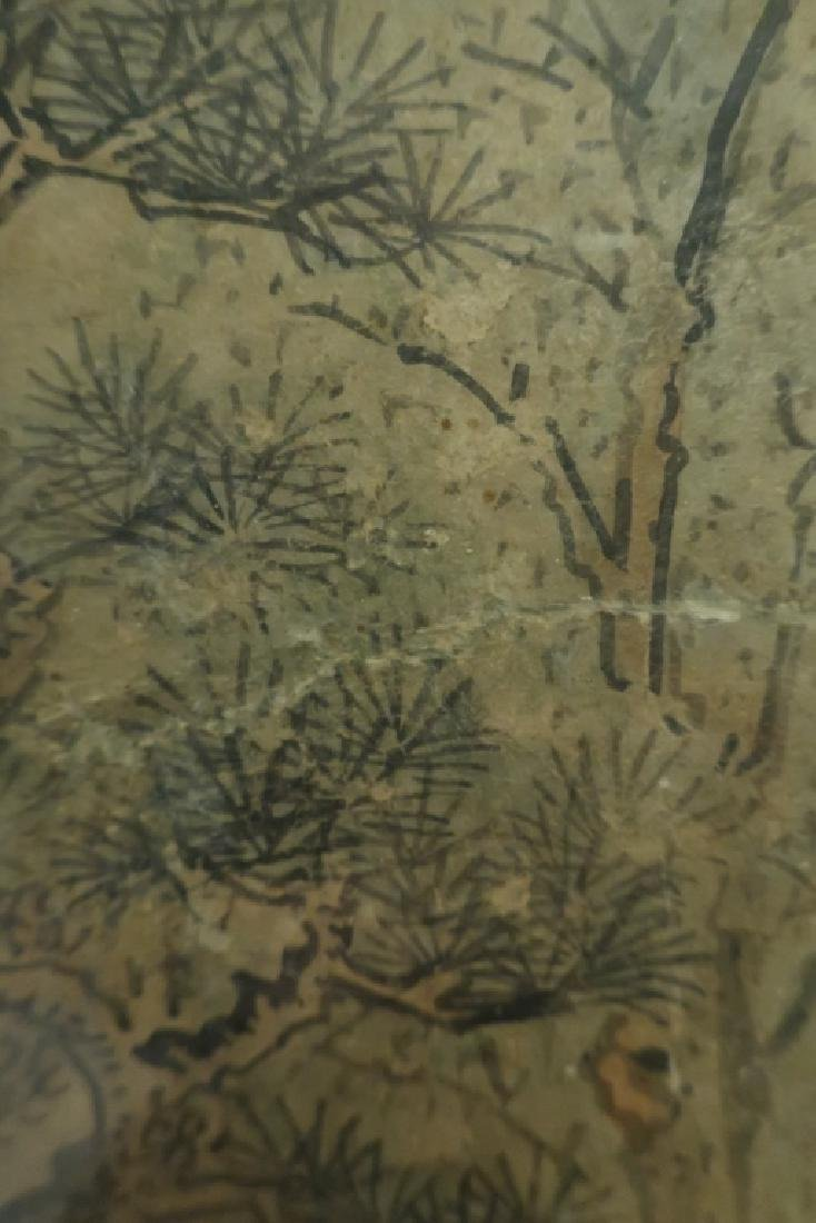 2 Yi Dynasty Folk Paintings,19th C.,ink on paper - 7