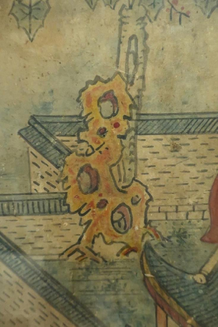 2 Yi Dynasty Folk Paintings,19th C.,ink on paper - 8