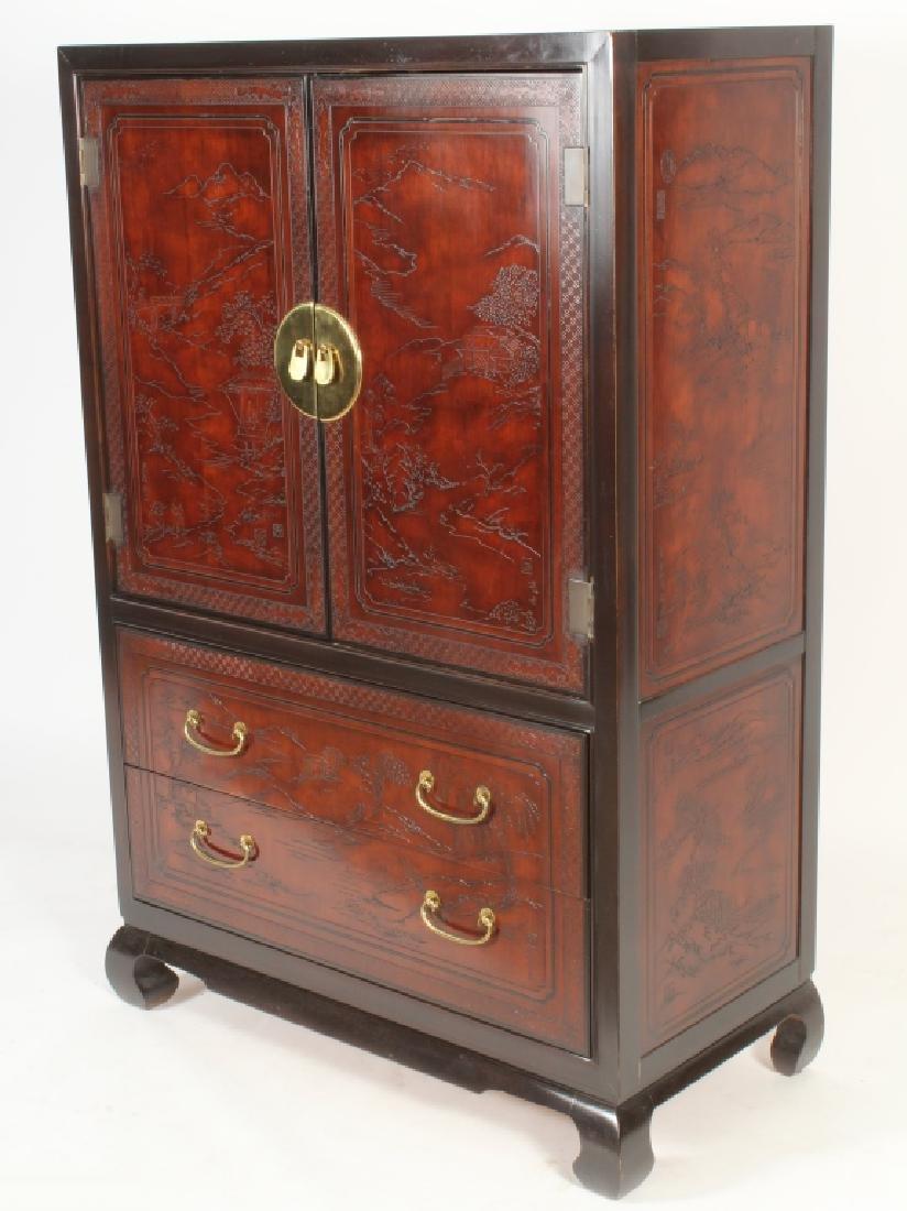 Drexel Asian Style Wardrobe Cabinet - 2