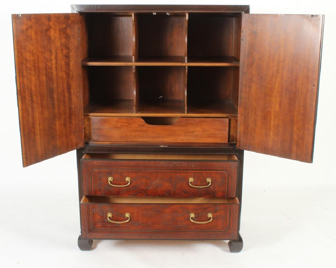 Drexel Asian Style Wardrobe Cabinet - 3