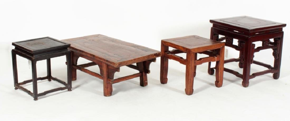 4 Chinese Hardwood Tables, 19/20th C.
