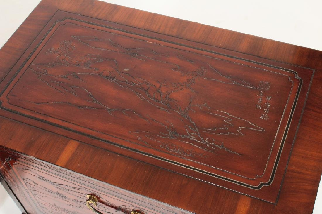 2 Drexel Heritage Asian Style 2 Drawer Chests - 2