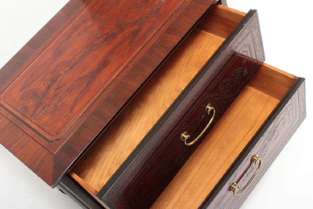2 Drexel Heritage Asian Style 2 Drawer Chests - 3