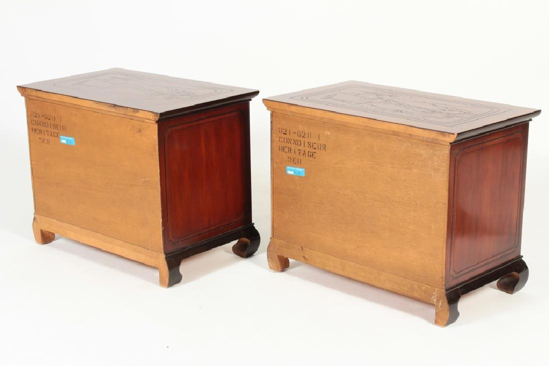 2 Drexel Heritage Asian Style 2 Drawer Chests - 5