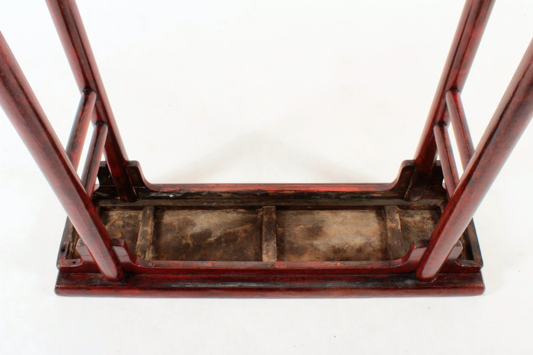 Asian Altar Table Red Laquered Wood - 5
